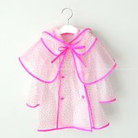Children's clothing child fashion poncho raincoat dot jluou18 pedestrianism hiking