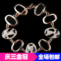 Min.order is $10(mix order) fashion accessories pinto vintage full rhinestone cutout bracelet female A2071