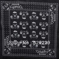 "casualties resistance antigas mask Skull Skeleton 100%Cotton hiphop bboy Bandana wrap scarf wristb Headband 22""*22""Free Shipping"