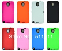 Hybrid shockproof combo protective case for samsung galaxy note 3 N9000,100pcs/lot Free shipping by DHL