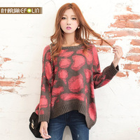 Pullovers ON Sale promotion 2013 autumn sweater female o-neck loose batwing sleeve loose sweater female  Cheap HOT