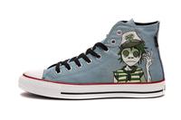 High Top Doodle  Gorillaz Crossover Canvas Shoes Graffiti Pattern Plimsoll Men & Women
