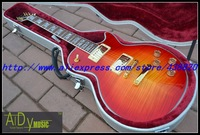 2013  New Arrival Cherry Burst color Supreme Electric Guitar Best OEM Musical instruments free shipping One neck (No Scarf)