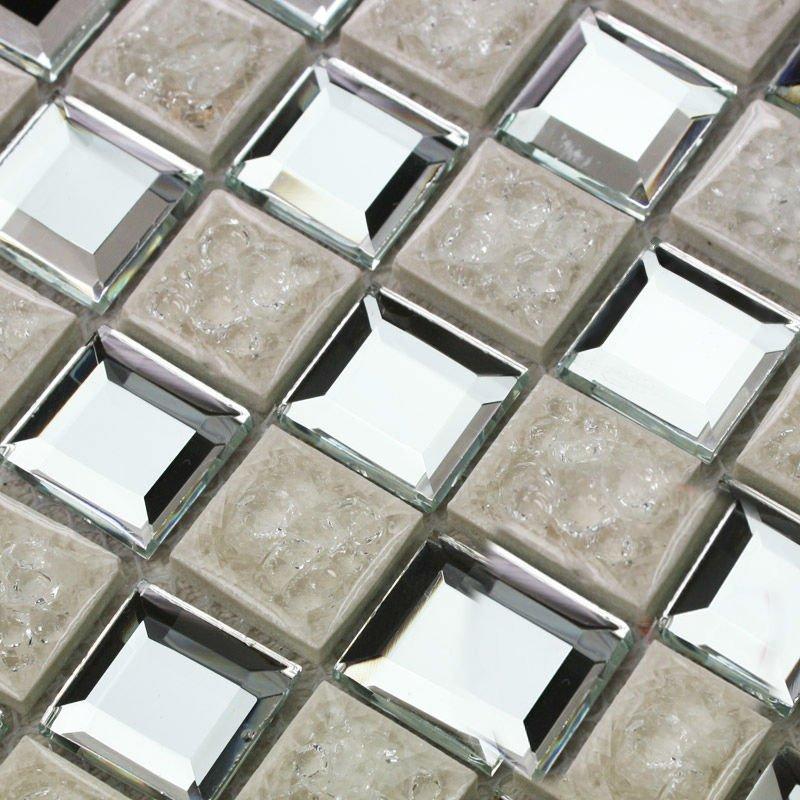 ceramic tile mirror sheets square ice crack pattern mosaic