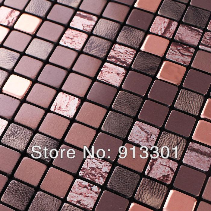 metallic mosaic tile backsplash kitchen brown stone surface art design mosaic wall tiles wholesale bathroom wall tile sheets(China (Mainland))