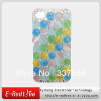 Colorful crystal rhinestone mobile phone hard casing for iphone 4