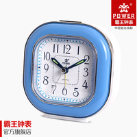 Overlooks power horologe lounged child cartoon music luminous mute alarm clock+free shipping!