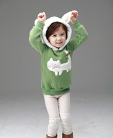 2013 winter small cat child thickening wadded jacket children outerwear
