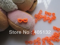 RC-176-9 200pcs/bag Nail Resin Decoration Lovely Orange Glasses Shape Nail Art Decorations Cellphone Decorations