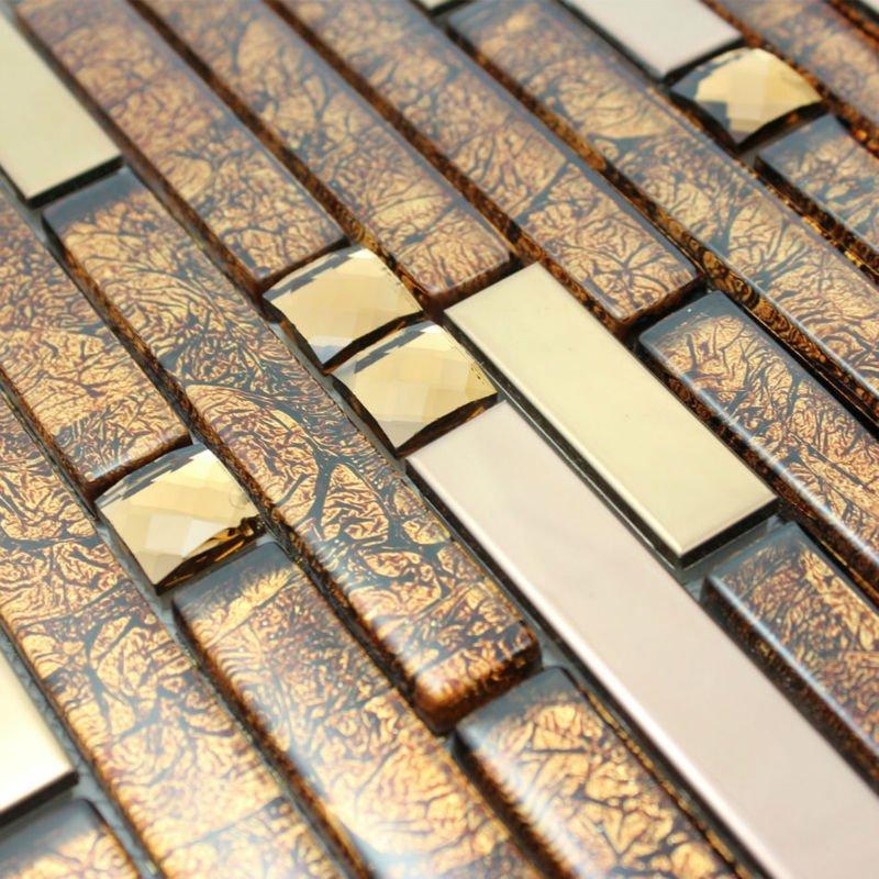 Mosaic Tiles Design On Backsplash With Excellent Dark Kitchen Cabin ...