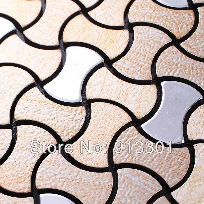Metal Floor Tiles Metallic Mosaic Tile