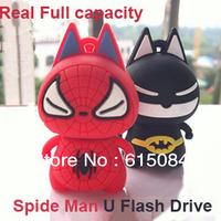 Hot Spide Man usb flash drive 4GB 8GB 16GB 32GB 64GB Memory Stick Flash Pen Drive Disk, free shipping