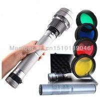 Silver 85W 65W 45W 8700mAh 8500 Lumen HID Flashlight Kit Xenon SOS Torch Spotlight Light Lamp for Outdoor Camping Hiking Hunting