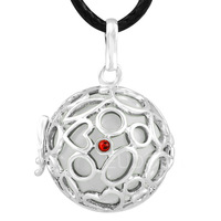 6PICS/lot  Sounds musical ball Mexico bola Pregnancy Pendant  belly bali Necklace with cage 6H27A07