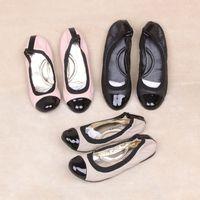 Sheepskin round toe flat shoes comfortable dance shoes genuine leather suit shoes fashion plus size women's shoes