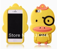 2013 Hot sale Luxury TOP quality soft lovely 3D The duck for iPhone 4/4s/5/5s Phone case 10PCS Wholesale Free shipping