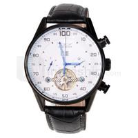 Luxury Mens Automatic Watch JARAGAR Tag Fashion Skeleton Tourbillon Leather Strap Big Dial Auto Mechanical Men's Sports Watches