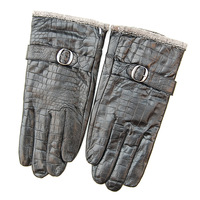 Male genuine leather gloves winter sheepskin gloves autumn and winter thin thermal leather gloves