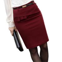 10042013 autumn bust skirt ol elegant women's plus size step skirt slim hip skirt
