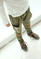 Free Shipping Children clothing kid's Cotton terry word printing pants