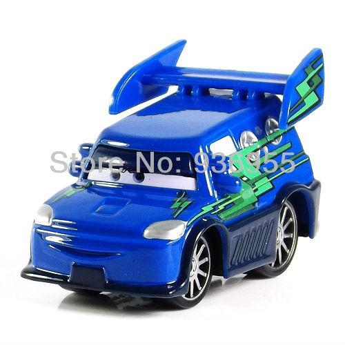 Free Shipping Pixar cars 2 Diecast DJ Bad guy Blue Metal Toy Car Loose toys NEW 1:55(China (Mainland))
