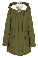 Женские пуховики, Куртки winter jacket thicken women winter coat women women coats winter fashion 2013 new women winter parka Black Red