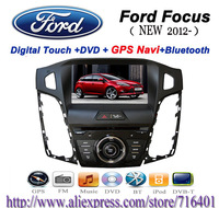 2 Din Car DVD For Ford Focus 2012 HD DVD player Window CE 6.0 system FM/AM USB SD Bluetooth IPOD GPS TV 4GB IGO MAP wholesale