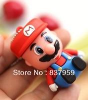 Cartoon super mario 1-32GBusb 2.0 memory pen disk thumb/drive/gift FREE SHIP