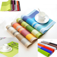 free shipping Pvc placemat fashion mat waterproof table cloth slip-resistant pad plastic heat insulation pad bowl pad disc pads