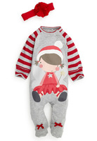 2013 Newest Winter New Year Christmas Clothes Girls and Boys Subcoating Cute and Warm Romper,4 sets/lot,Free Shipping 0529764