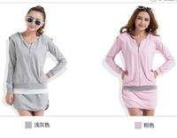 2013 New brand Women Suits SportsWear women long-sleeve Slim tracksuit sport suit lesure jacket+skirt set uniforms/clothing sets