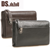 First layer of cowhide wallet man bag zipper clutch bag business casual cowhide multifunctional large capacity clutch
