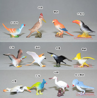 Birds model toy ! Toucan .Geese . Peacock . Crane . Eagles 12 a set .Help sweet baby to touch the bird world. Free shipping.