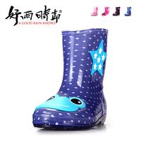 Frog cartoon child rain boots bow baby boots rainboots