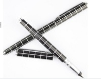 Delicate office pen FREE SHIPPING BOOKWORM GRID FLOWER PEN