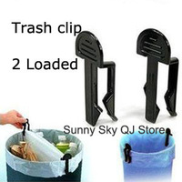 Household Trash Clip/Junk Clip (2 installed) Garbage Bag Retainer Clip~(2 pcs/pack,3 packs/lot)