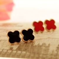 Fashion small fresh all-match four leaf clover earring drops of oil earrings earring female