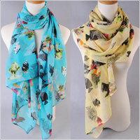 hot women winter scarf fashion style silk scarf polka velvet scarf chiffon Bohemia Scarf free shipping (SC028)