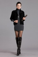 Autumn and winter marten velvet cape kojah mink sweater cardigan overcoat outerwear vest