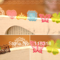 Min Order is $5,(1 Lot=70 Pcs) DIY Scrapbooking Paper Cute Transparent PVC Decorative Stickers Diary Sticker Free Shipping