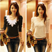 2013 autumn women's top slim basic shirt female long-sleeve 0284