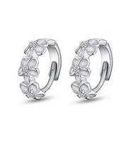 S925 Sterling Silver Earring,3 Flowers Designs with Austrial Crystal,Latest Model Fashion Earrings OE29