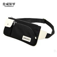 2014 Direct Selling Sale Freeshipping Men Zipper Solid Handbag Bolsas United States Waist Pack Male Chest Canvas Bag Man Sports