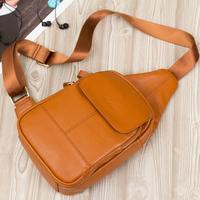 Women Handbags Bolsas First Layer of Cowhide Chest Pack Messenger Bag Genuine Leather Female Bags Single Shoulder Brief Waist