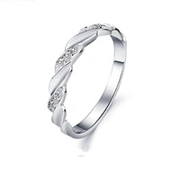 925 Sterling Silver Ring with Platinum Plated,Top Quality Austria Crystal Ring Wholesale OR18