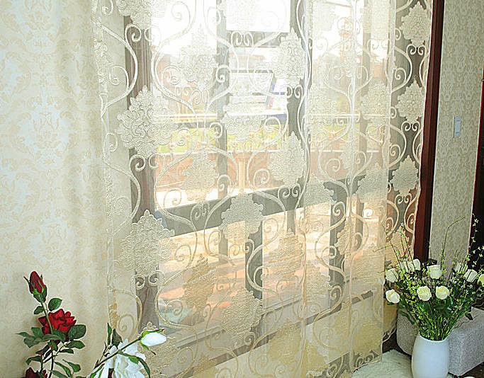 2013 novo design de moda janela flor guirlanda de tecido jacquard de triagem para sala de estar decoração de casa cortina gazes tecido(China (Mainland))