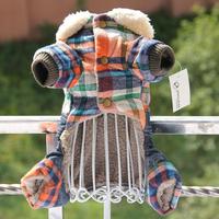 Autumn Winter England Jumpsuits Dog Clothing Coats Dog Jacket Sweater Clothes