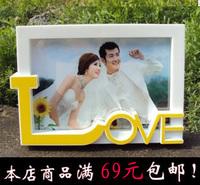 Free shipping 7 inch LOVE photo 5R wedding photo frame 7 inch children baby portrait photo 6 inch photo frame