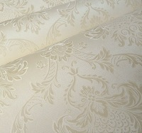 Tapete Papel de pared Vintage Classic Beige French Modern Damask Feature Wallpaper Wall paper Roll For Living Room Bedroom TV