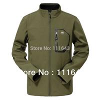 Free shipping NEW Men Waterproof Soft Shell Breathable Softshell Jacket Outdoors Hiking Climbing&Glof Y210